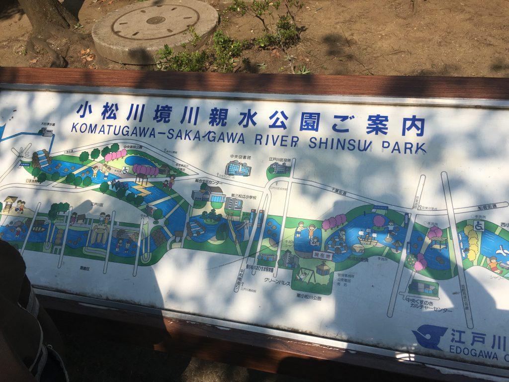 「小松川境川親水公園」は無料で水遊びができ、2歳5ヶ月の息子が1時間以上楽しんでいました!
