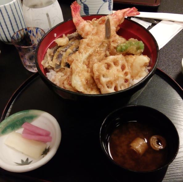 山海の幸天丼:1058円