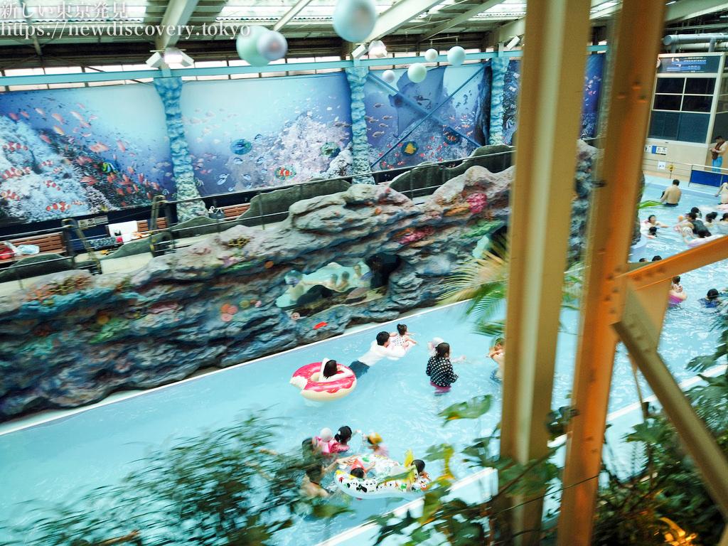 年末ハワイアンズ4歳子連れ1泊2日旅行_流れるプールの混雑状況