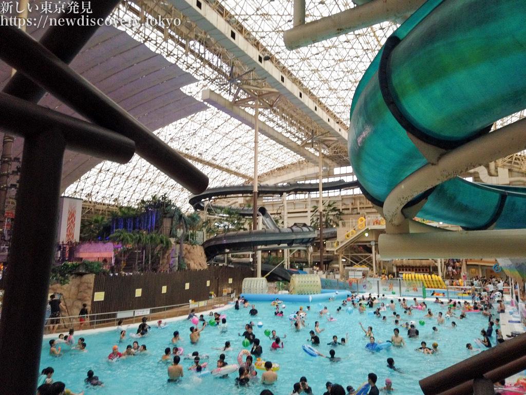 年末ハワイアンズ4歳子連れ1泊2日旅行_プール年末の混雑具合