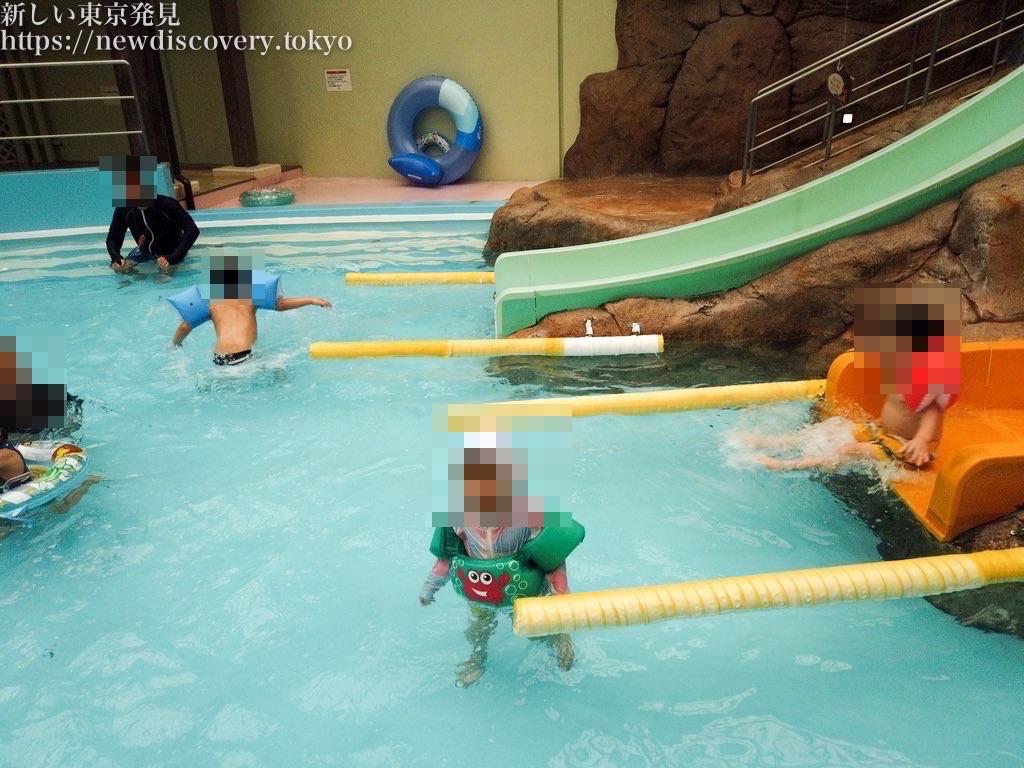 年末ハワイアンズ4歳子連れ1泊2日旅行_子ども用ウォータースライダー